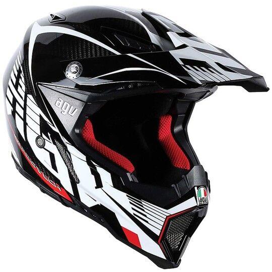 Agv Casco moto cross enduro agv ax-8 evo carbon multi bianco rosso