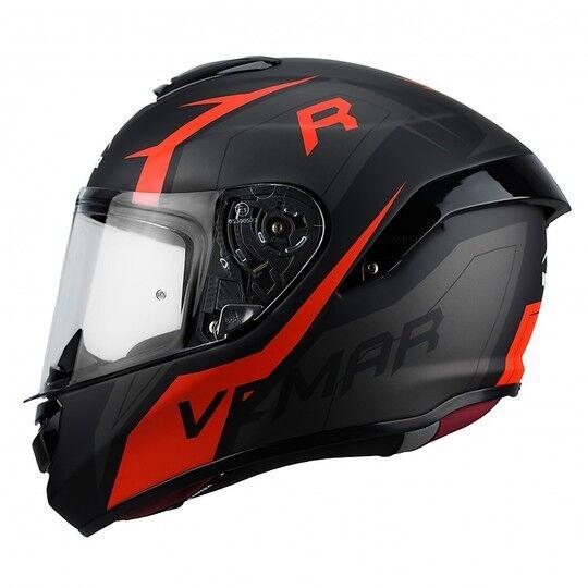 vemar casco moto integrale in fibra vemar hurricane revenge h027 nero rosso