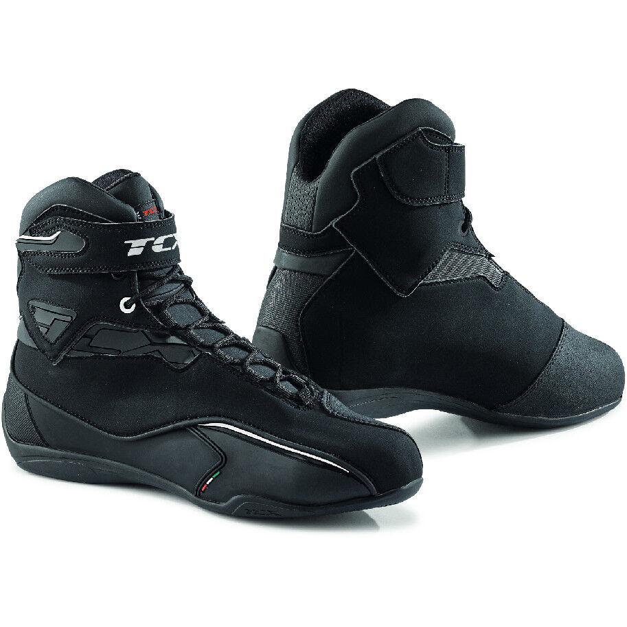 tcx scarpe moto sportive impermeabili tcx 9581w zeta wp nero