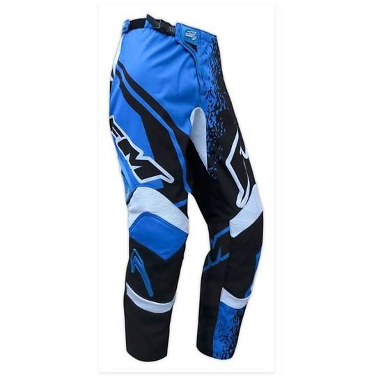 Fm racing Pantaloni moto cross enduro fm racing force x25 blu nero