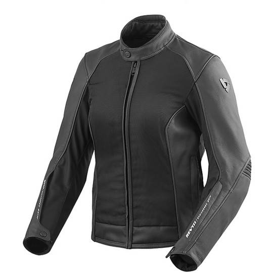 Rev'it Giacca moto donna in pelle rev'it ignition 3 ladies nero