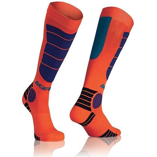 Acerbis Calze moto tecniche acerbis mx impact socks arancio blu