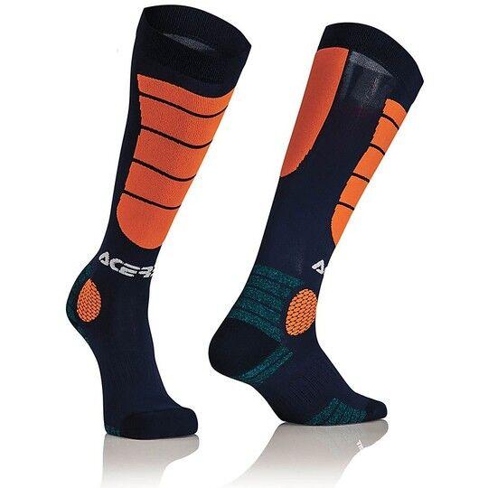 Acerbis Calze moto tecniche acerbis mx impact socks blu arancio