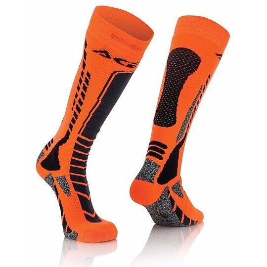 Acerbis Calze moto tecniche acerbis mx pro socks nero arancio fluo