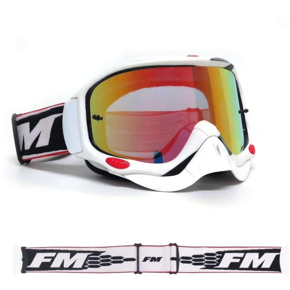 fm racing occhiali moto cross enduro fm racing snake bianco