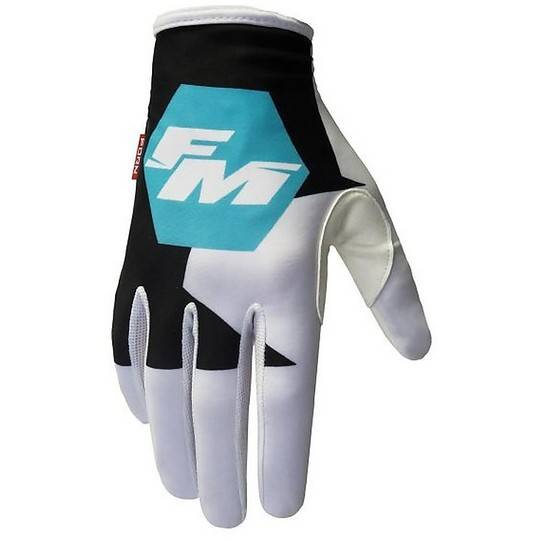 Fm racing Guanti moto cross enduro fm racing x26 exagon 007 turchese
