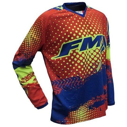 Fm racing Maglia moto cross enduro fm racing x26 force 001 rosso giallo blu fluo