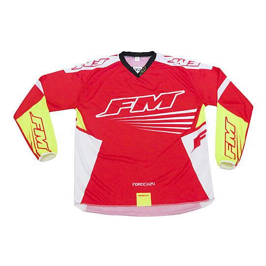 Fm racing Maglia moto cross enduro fm racing x24 force rosso giallo