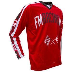 Fm racing Maglia moto cross enduro fm racing vintage x24 campus rosso bianco