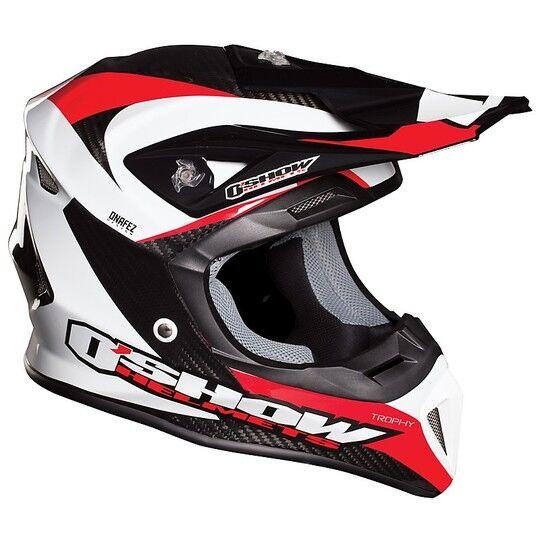 Fm racing Casco moto cross enduro o'show fm racing in fibra carbon trophy 990 grammi