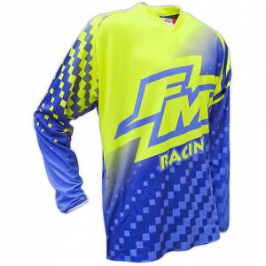 Fm racing Maglia da bambino moto cross enduro fm racing hero 2 youth blu giallo
