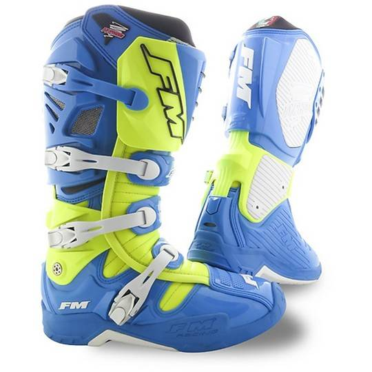 Fm racing Stivali moto cross enduro fm racing typhoon 2 blu giallo