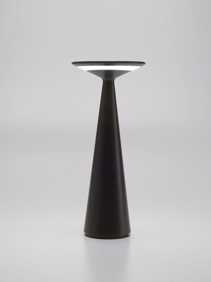 zafferano dama lampada da tavolo nero opaco con ricarica per smartphone