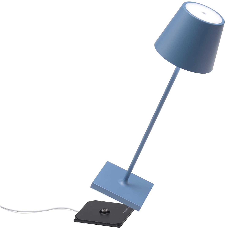 Zafferano Poldina Pro Lampada Da Tavolo Blu