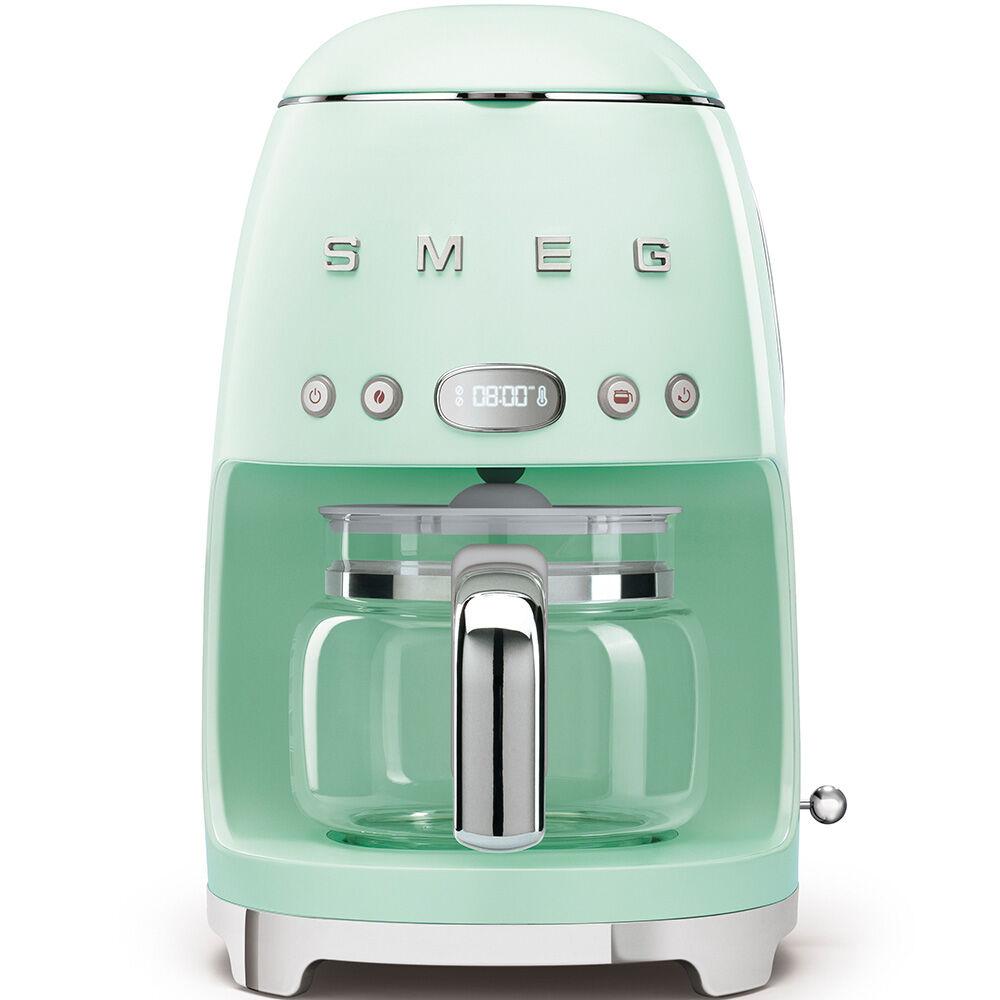 smeg macchina da caffè filtro verde pastello estetica anni '50