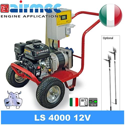 generatore di corrente gruppo elettrogeno a benzina 2 abbacchiatori elettrici, airmec ls 4000 - 12v