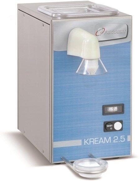 Montapanna FRM Capacità vasca lt 2,5 Condensatore ad aria Produzione oraria Kg 5 DIM. Cm L 23 x P 40 x h 43 Modello Kream 2,5
