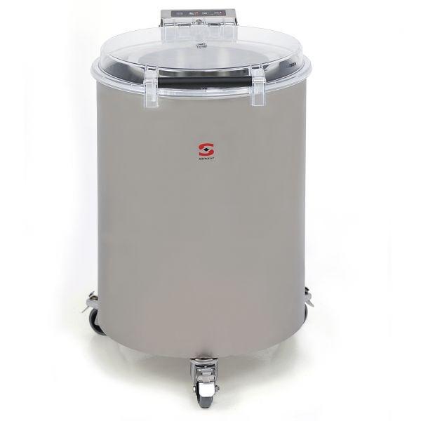 Centrifuga per insalata Sam Potenza Totale: 550 W Capacità di carico per ciclo: 12 Kg Produzione ora sgocciolatoio: 240 Kg - 720 Kg Modello ES-200