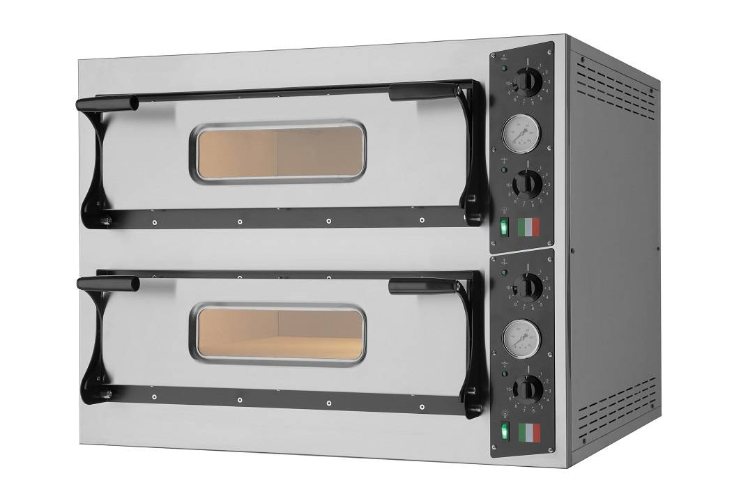 Forno Elettrico per pizza RI 2 camera di cottura Temperatura 50/500 °C Dim. L1010 x P1210 x H750 Modello EcoSteelBIG