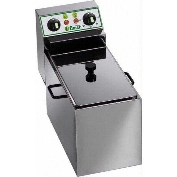 Friggitrice Elettrica Da banco Fimar Dotata di rubinetto di Sicurezza per lo scarico dell' olio Capacità Vasca 8 Litri Dimensioni L27xP49xH37 Modello FR8R