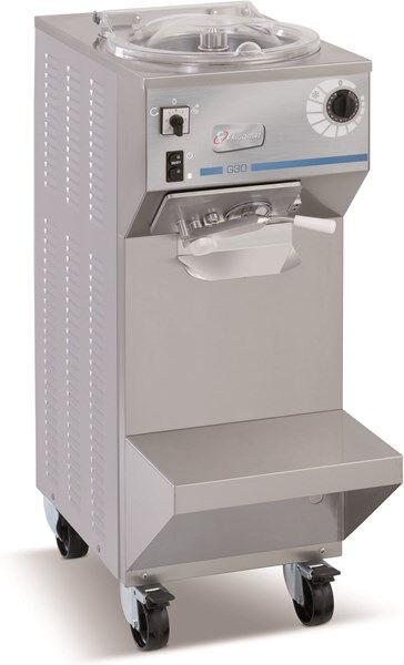 Mantecatore verticale FGM Condensatore ad aria/acqua Carico per ciclo Kg 6,5 Produzione oraria Kg 30 Dim. Cm L 40,5 x P 79 x h 108 Modello G30