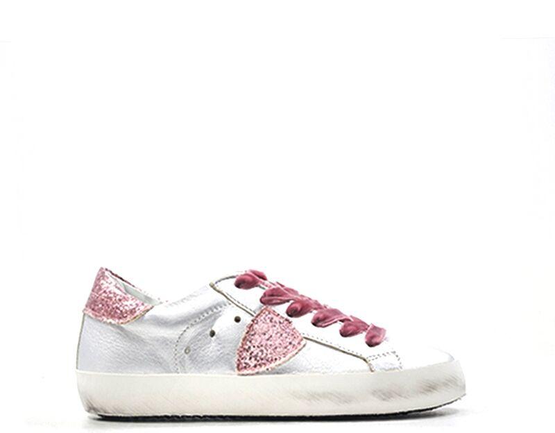 Philippe Model Sneakers Trendy bambini argento