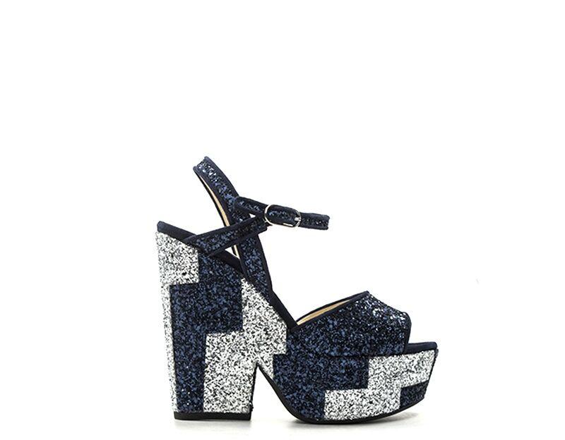 Twin-Set Sandali Alti donna blu/argento