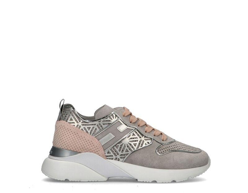 Hogan Sneakers Trendy donna argento/rosa