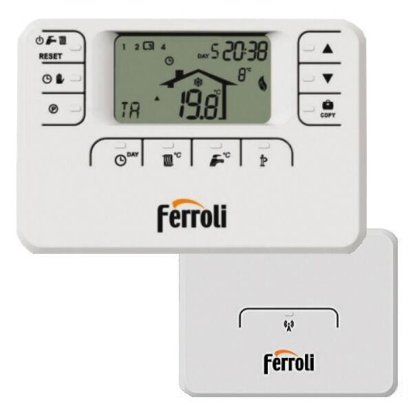 Cronotermostato Ferroli Romeo W Rf Radio Frequenza Comando Remoto Settimanale Modulante Wireless (013101XA)