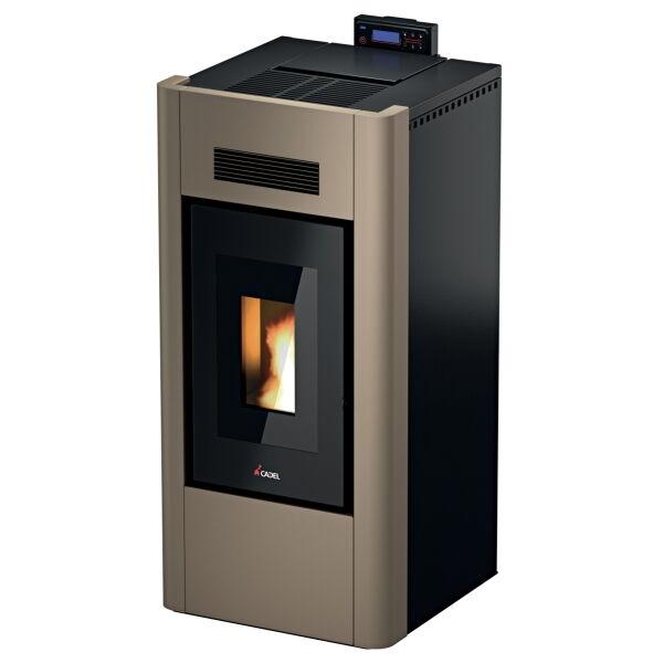 Stufa A Pellet Idro Cadel Prince3 23 H2o Light Bronze 22,8 Kw Ad Acqua + Kit Acs (KIT_7017084_6917031)