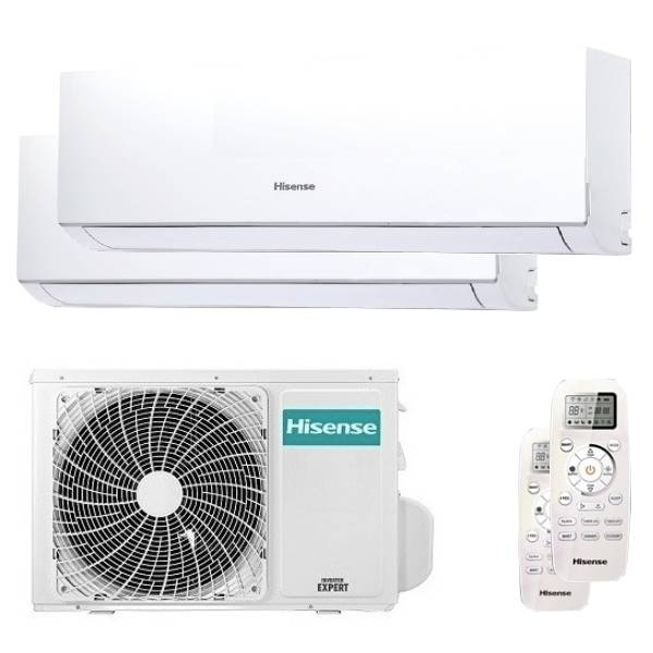 Hisense Condizionatore Hisense New Comfort Dual Split 9000+12000 Btu Inverter A++ Unità Esterna 4,2 Kw (2AMW42U4RRA-DJ25VE0AG-2-AB3EC8)