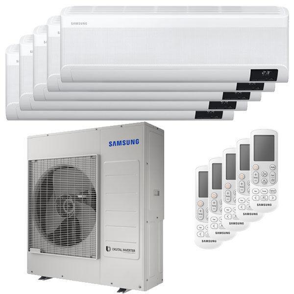 Samsung Condizionatore Samsung Windfree Elite Penta Split 7000+7000+9000+9000+9000 Btu Inverter A++ Wifi Unità Esterna 10,0 Kw (AJ100TXJ5KG/EU-AR07TXCAAWKNEU-5-A74B71)
