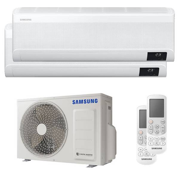 Samsung Condizionatore Samsung Windfree Avant Dual Split 12000+12000 Btu Inverter A+++ Wifi Unità Esterna 5,0 Kw (AJ050TXJ2KG/EU-AR12TXEAAWKNEU-2)