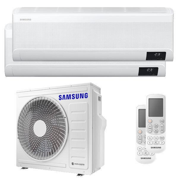 Samsung Condizionatore Samsung Windfree Avant Dual Split 12000+18000 Btu Inverter A++ Wifi Unità Esterna 8,0 Kw (AJ080TXJ4KG/EU-AR12TXEAAWKNEU-2)