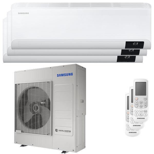 Samsung Condizionatore Samsung Cebu Wi-Fi Trial Split 18000+18000+18000 Btu Inverter A++ Wifi Unità Esterna 10,0 Kw (AJ100TXJ5KG/EU-AR18TXFYAWKNEU-3)
