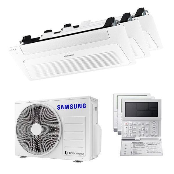 Samsung Condizionatore Samsung Cassetta Windfree 1 Via Trial Split 9000+9000+12000 Btu Inverter A+++ Unità Esterna 5,2 Kw (AJ052TXJ3KG/EU-AJ026TN1DKG/EU-3-31A713)