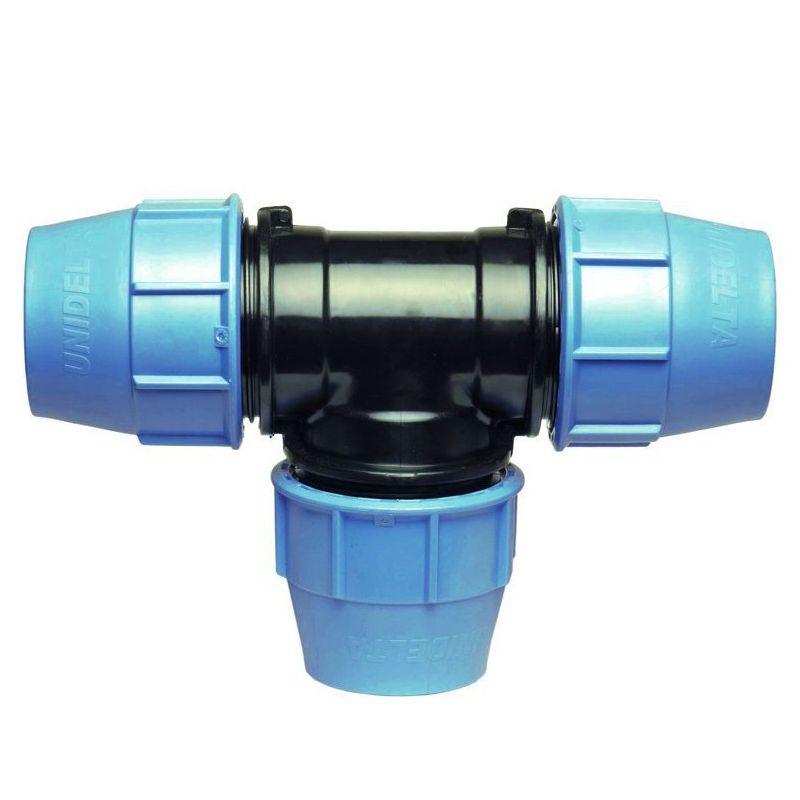 Generico Raccordo Tee 90 A Compressione Pn16 Per Tubo Polietilene
