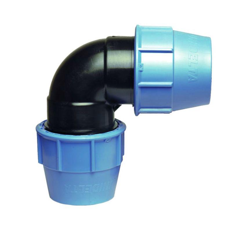 Generico Raccordo A Gomito 90 Gradi A Compressione Pn16 Per Tubo Polietilene