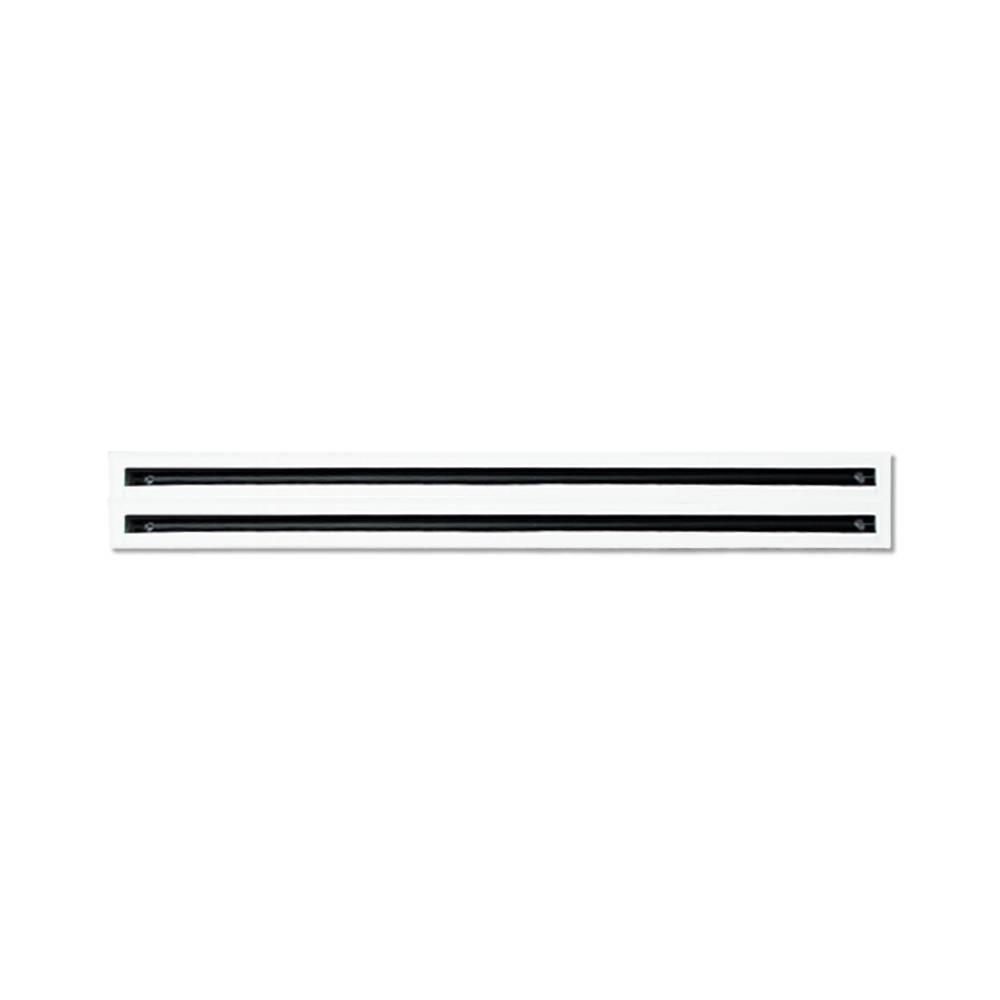 Tecnosystemi Diffusore Lineare A 2 Feritoie In Alluminio Verniciato Bianco L.600 11174640