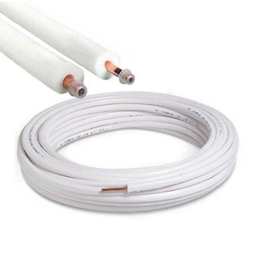 generico kit tubo rame rivestito condizionamento 16 metri 1/4 e 3/8 spessore 0,8 mm norma uni