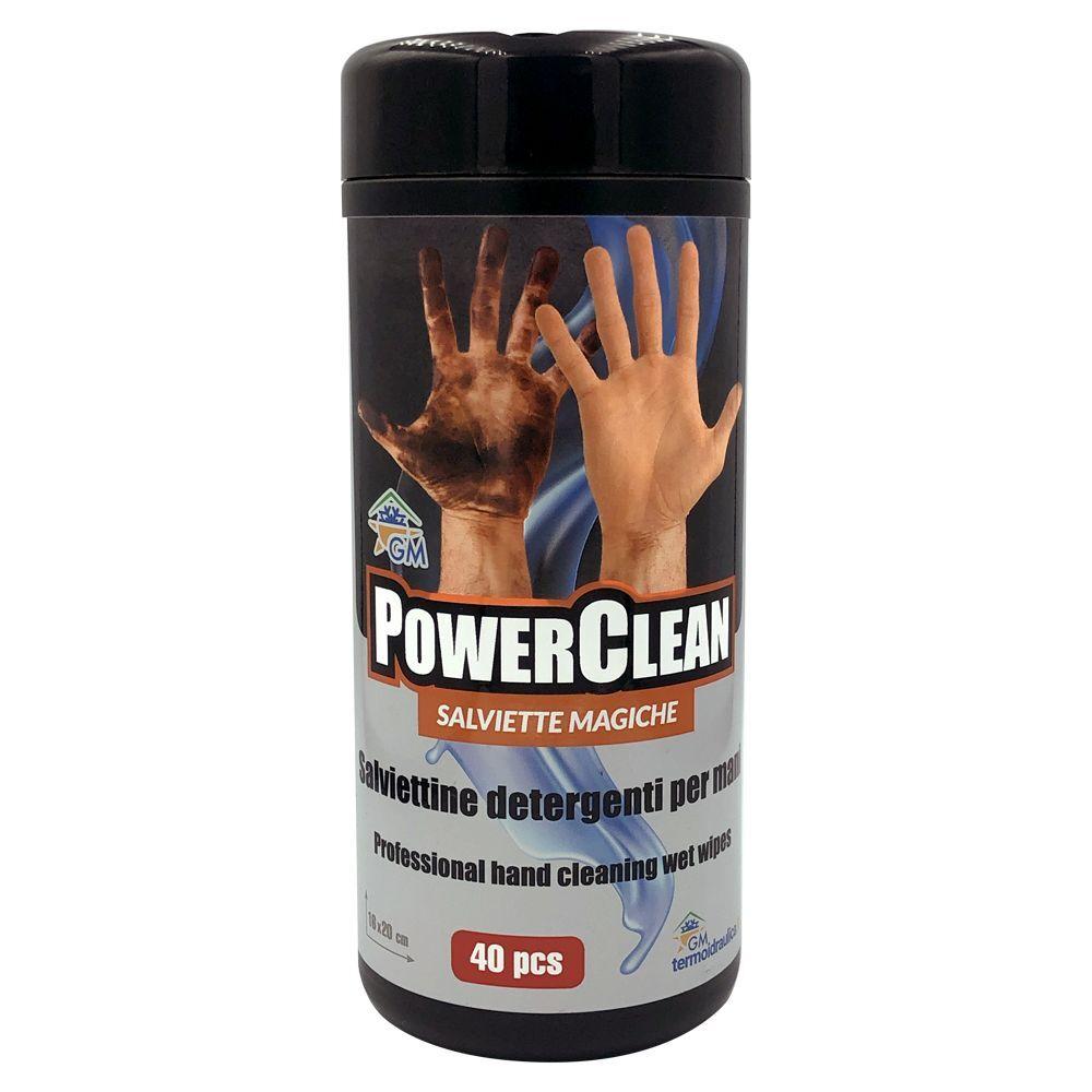 Salviette Lavamani Power Clean Detergenti E Sgrassanti Per Mani Molto Sporche