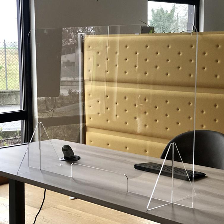 generico barriera parafiato da banco anti contagio in plexiglass 800x800x5 mm