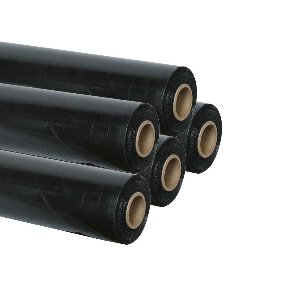 Pellicola Imballo Nera 5 Rotoli Film Estensibile Manuale H 50 Cm