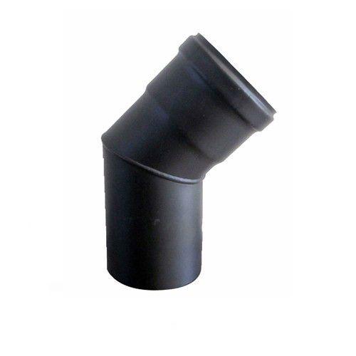 generico gomito curva acciaio nero stufa pellet d 80 a 45 gradi aisi 316 l 1,2 mm norma cee