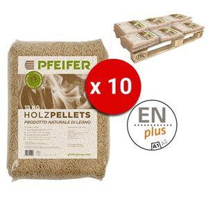 Pedana Pellet Pfeifer Holzpellets Bancali Da 10 Sacchi 15 Kg Al Pezzo Certificato Enplus Prodotto Naturale Di Legno