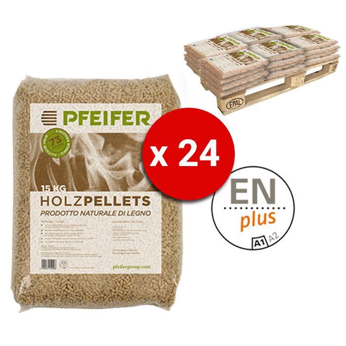 Pedana Pellet Pfeifer Holzpellets Bancali Da 24 Sacchi 15 Kg Al Pezzo Certificato Enplus Prodotto Naturale Di Legno