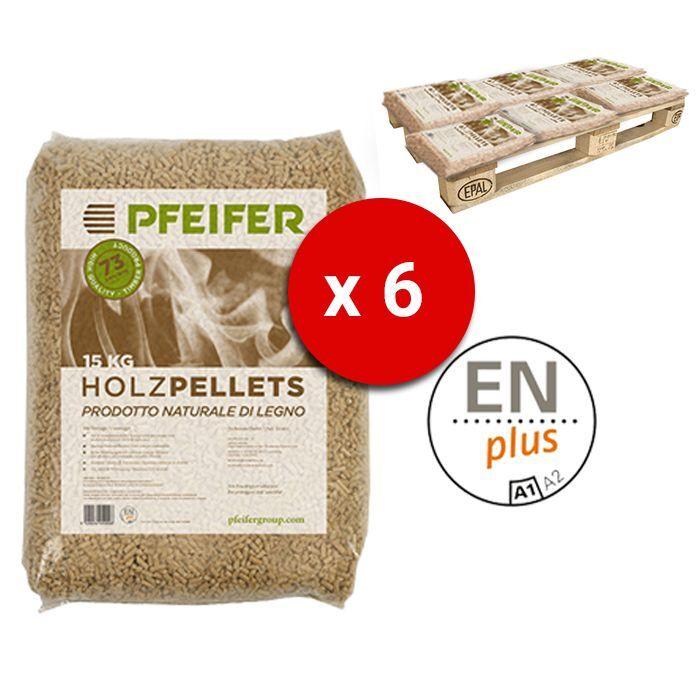 Pedana Pellet Pfeifer Holzpellets Bancali Da 6 Sacchi Abete 15 Kg Al Pezzo Certificato Enplus Prodotto Naturale Di Legno