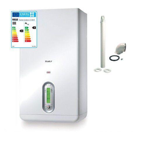 Riello Caldaia A Condensazione Family Condens 3,5 Kis Erp 35 Kw Metano Kit Fumi Incluso