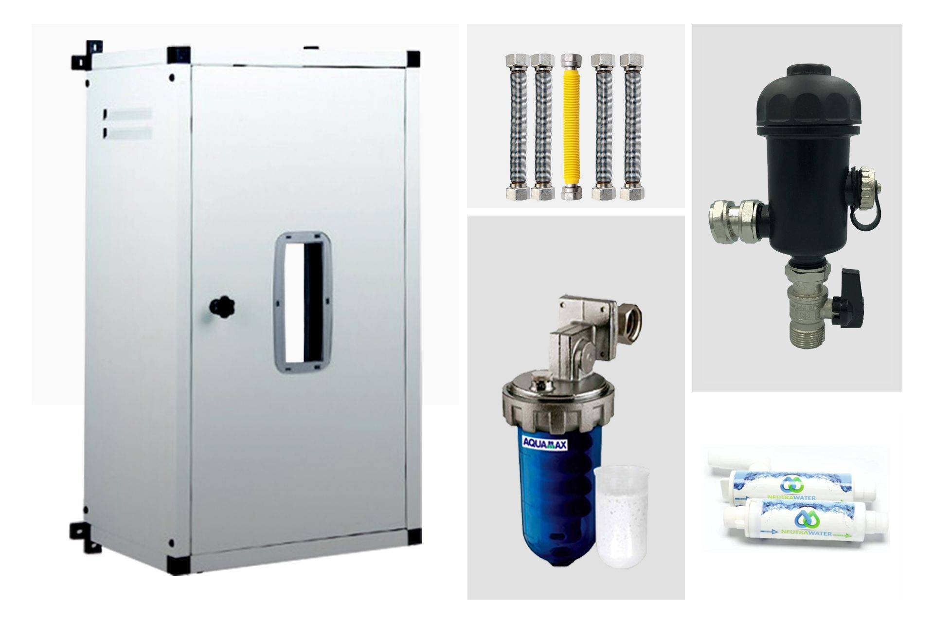 generico kit completo per installazione caldaia a condensazione universale con copricaldaia
