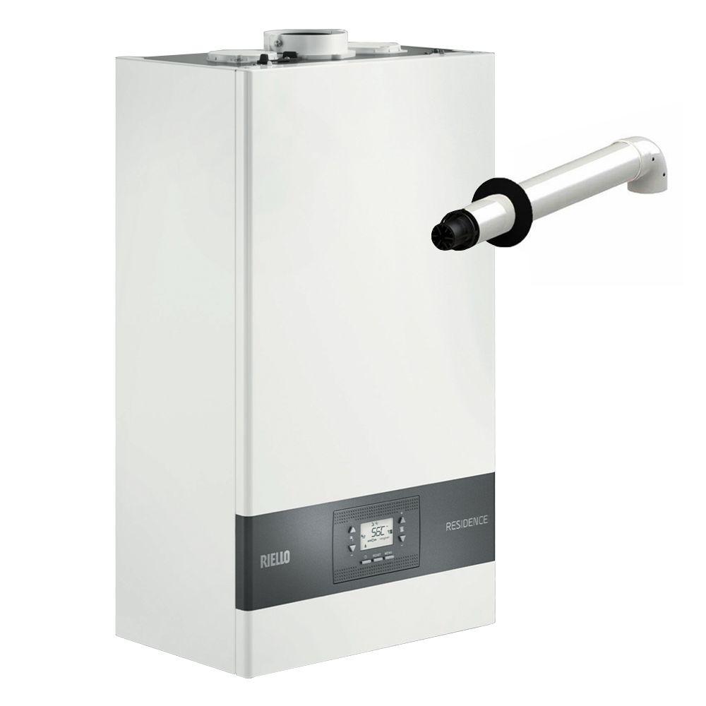 Riello Caldaia A Condensazione Residence 35 Kis Da 35 Kw Erp Con Gas A Metano O Gpl